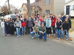 Student Volunteers for MLK Day of Service