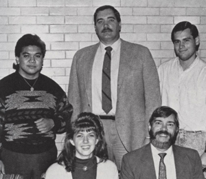 Dr. Lloyd Gestoso, 1992. As a senior at Cairn, he served as president of Chi Beta Sigma, developing a reputation for strong opinions about the importance of caring for people in need.