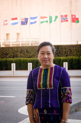 Ja Nan Lahtaw '93/G'95 believes that the participation of women and minorities in national dialogue is essential for peace.