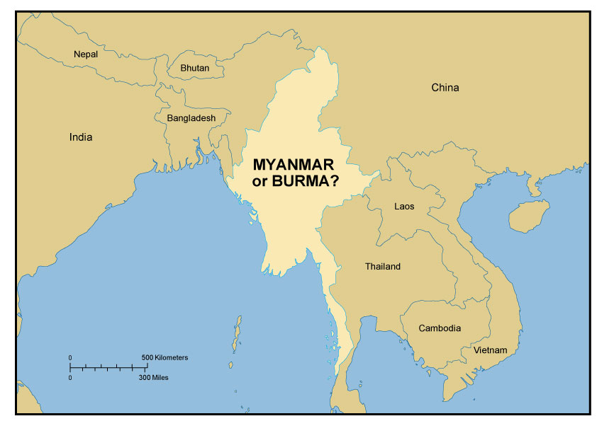 Map of Myanmar/Burma