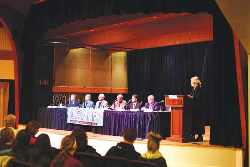 Lower Bucks Addiction Task Force panel at Community Town Hall in February 2017